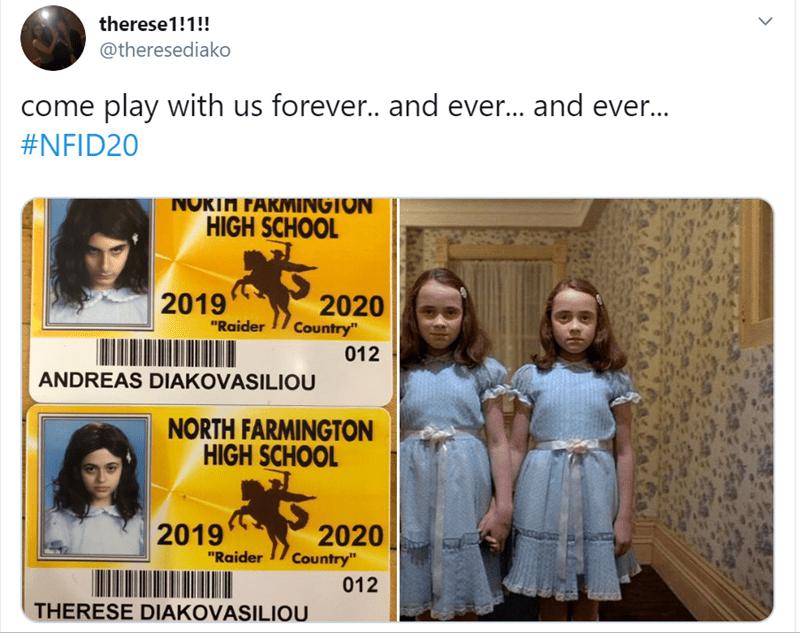 "Text - therese1!1!! @theresediako come play with us foreve.. and ever... and ever... #NFID20 NOKTA FARMINGTON HIGH SCHOOL 2019 2020 Country"" ""Raider 012 ANDREAS DIAKOVASILIOU NORTH FARMINGTON HIGH SCHOOL 2019 2020 Country"" ""Raider 012 THERESE DIAKOVASILIOU"