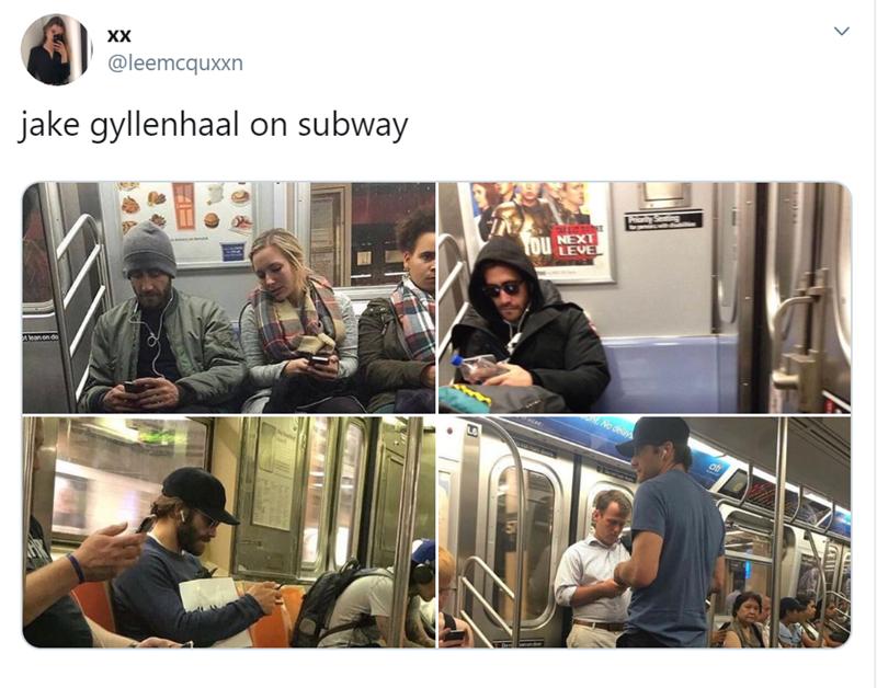Product - XX @leemcquxxn jake gyllenhaal on subway PhontyStng NEXT LEVEL Tou t lean on do nNo deys Dan n