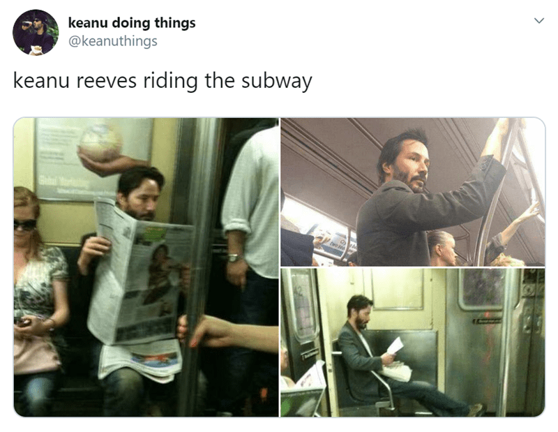 Photography - keanu doing things @keanuthings keanu reeves riding the subway tre sea