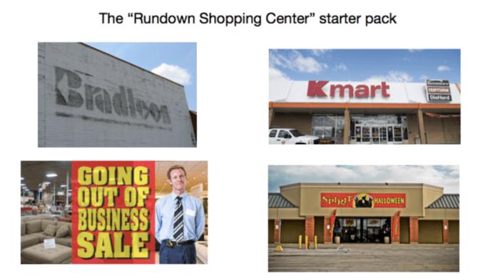 "Product - The ""Rundown Shopping Center"" starter pack Cradlow Kmart GOING OUT OF BUSINESS SALE SpiR HALLOWEEN"