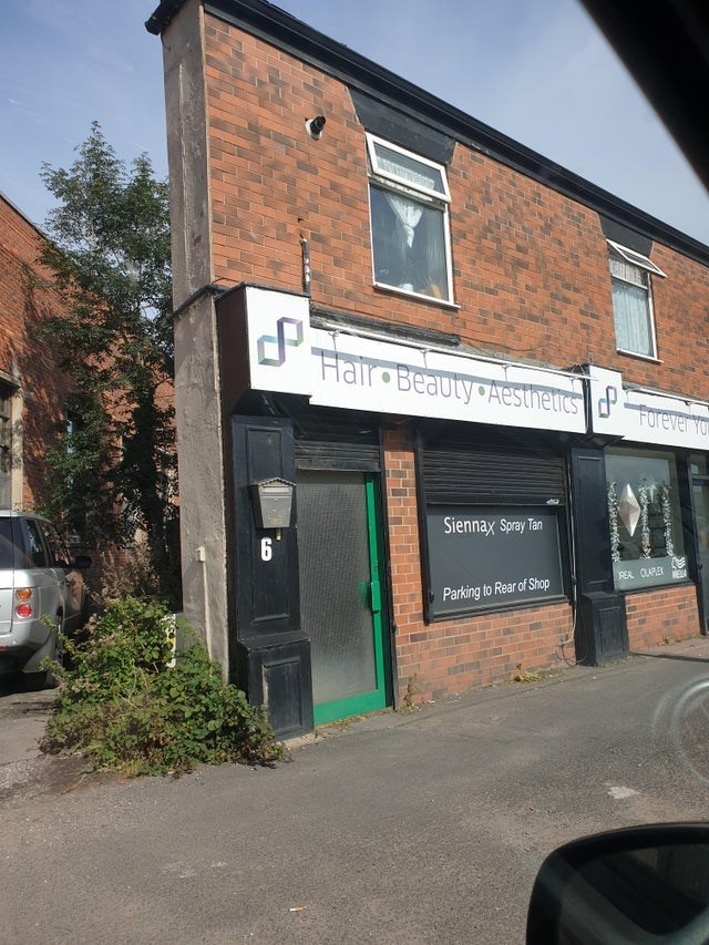 Property - CP Hair Beauty Aesthetics dForever Y Siennax Spray Tan 6 REA OLAPLEX Parking to Rear of Shop