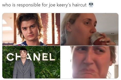 Face - who is responsible for joe keery's haircut CHANEL
