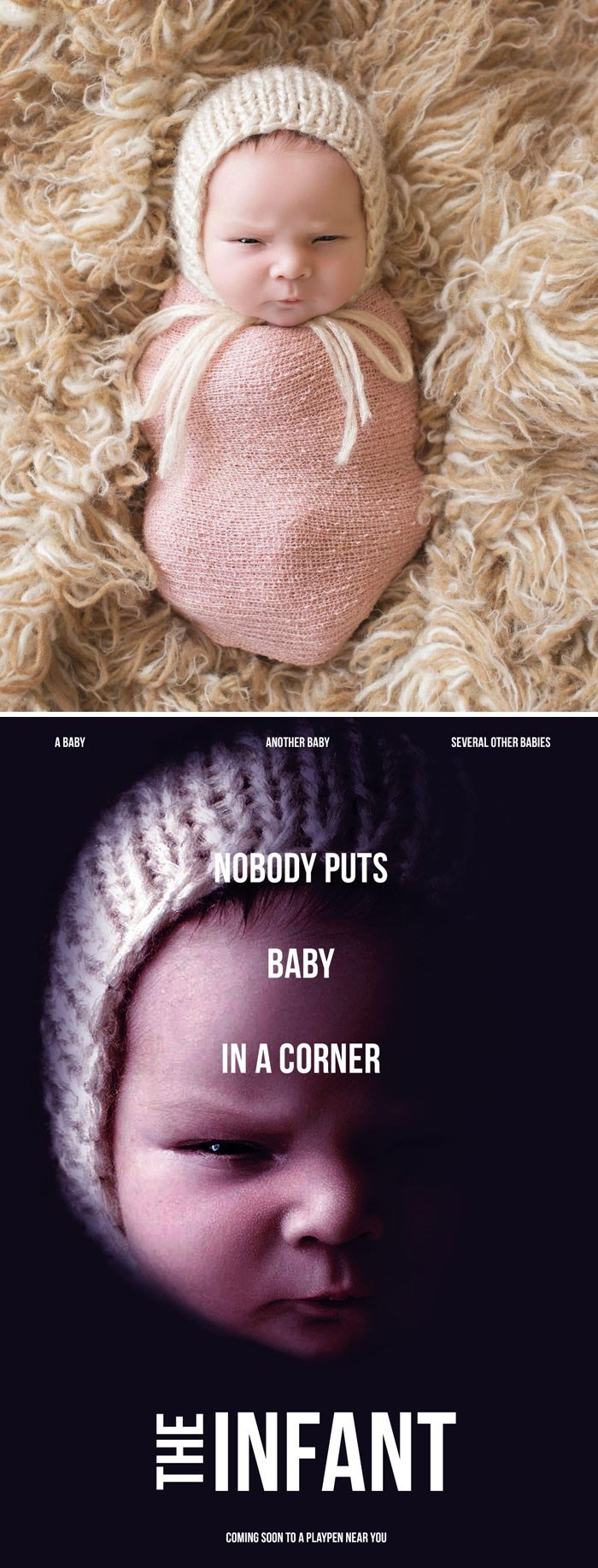 Nose - A BABY ANOTHER BABY SEVERAL OTHER BABIES NOBODY PUTS BABY IN A CORNER TEINFANT COMING SOON TO A PLAYPEN NEAR YOU