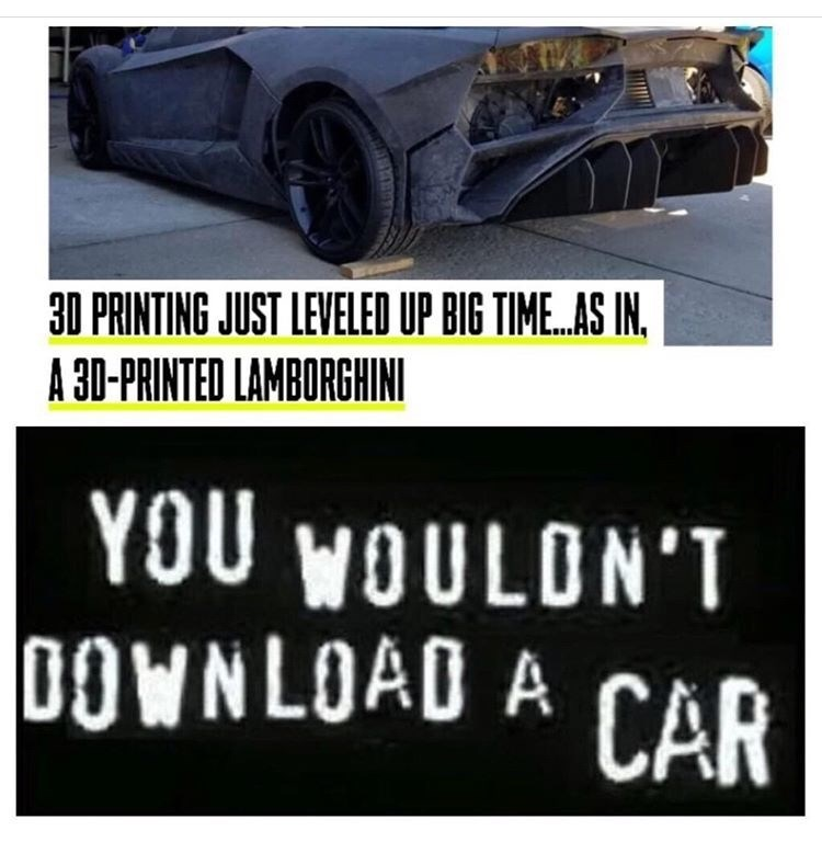 Vehicle - 30 PRINTING JUST LEVELED UP BIG TIME..AS IN A 30-PRINTED LAMBORGHINI YOU WOULON'T DOWNLOAD A CAR