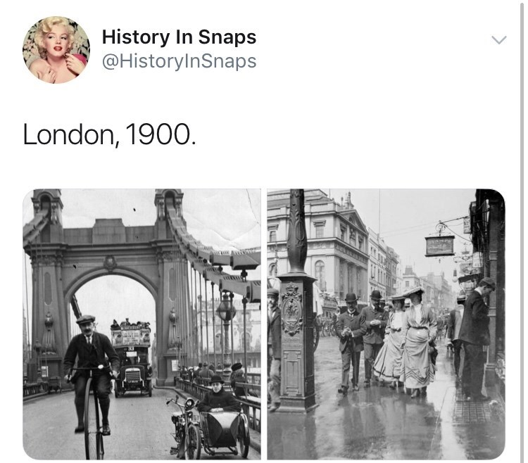 Arch - History In Snaps @HistoryInSnaps London, 1900.