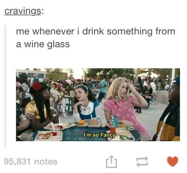 Product - cravings: me whenever i drink something from a wine glass m so Fancy 95,831 notes 11