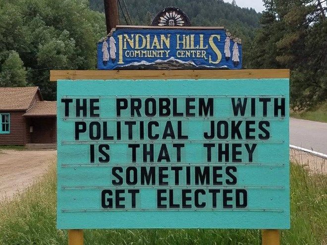 Nature reserve - INDIAN HILL COMMUNITY CENTER THE PROBLEM WITH POLITICAL JOKES IS THAT THEY SOMETIMES GET ELECTED