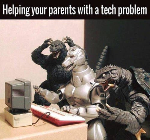 Technology - Helping your parents with a tech problem