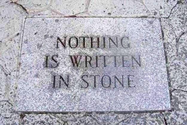 Headstone - ΝΟΤΗΙΝG IS WRITTEN IN STONE