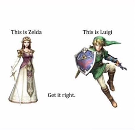 Cartoon - This is Luigi This is Zelda Get it right