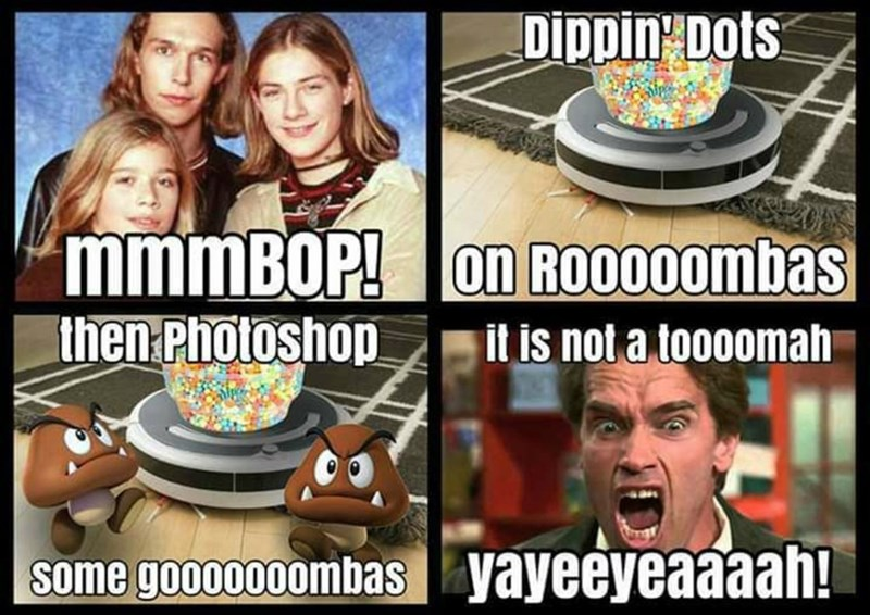 Photo caption - Dippin Dots mmmBOP! on Ro000ombas then Photoshop it is not a toooomah Some gooo000ombas yayeeyeaaaah!