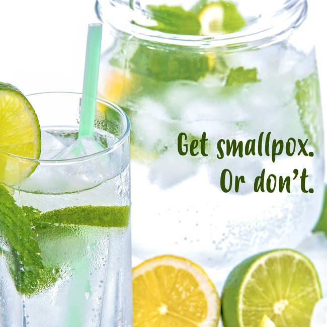 Lime - Get smallpox. Or don't.