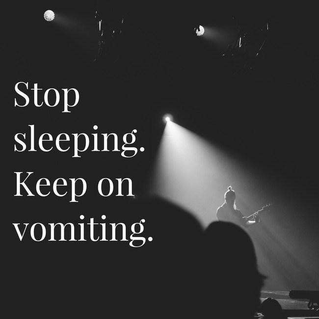 Sky - Stop sleeping. Кеер on vomiting