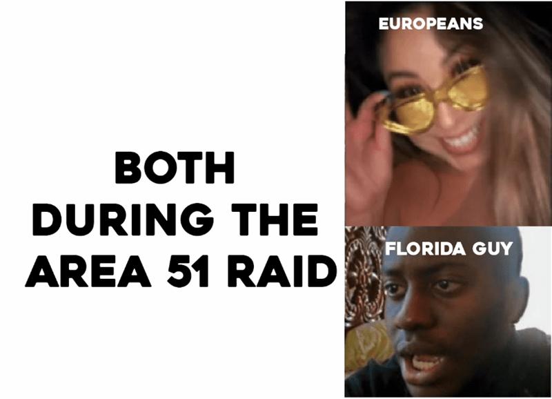 Eyewear - EUROPEANS ВОTH DURING THE FLORIDA GUY AREA 51 RAID
