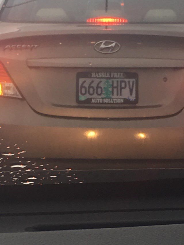 Vehicle registration plate - AFERNT HASSLE FREE 666 HPV AUTO SOLUTION
