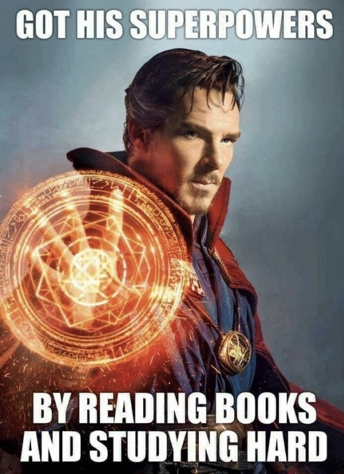 Movie - GOT HIS SUPERPOWERS BY READING BOOKS AND STUDYING HARD