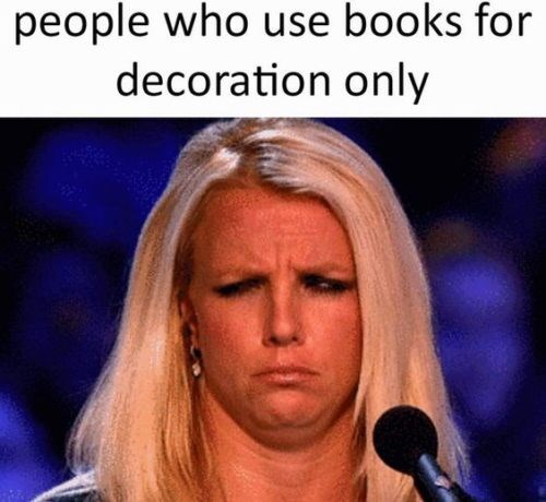 Hair - people who use books for decoration only