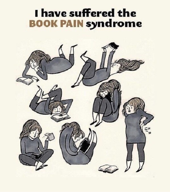 Cartoon - I have suffered the BOOK PAIN syndrome