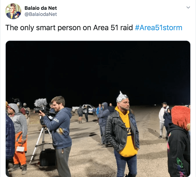 Product - Balaio da Net @BalaiodaNet The only smart person on Area 51 raid #Area51storm