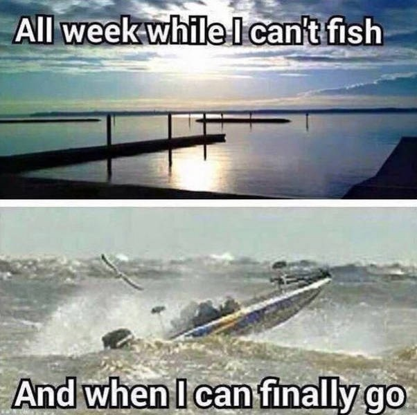 Wave - All weekwhile lcan't fish And when I can finally go