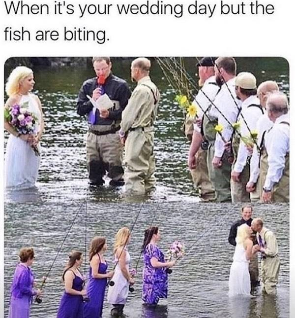Community - When it's your wedding day but the fish are biting.