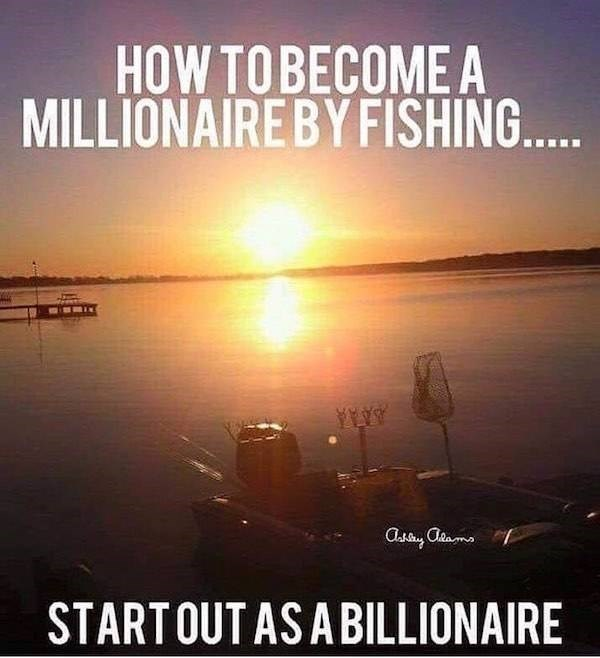 Sky - HOW TOBECOME A MILLIONAIREBY FISHING... STARTOUT AS A BILLIONAIRE