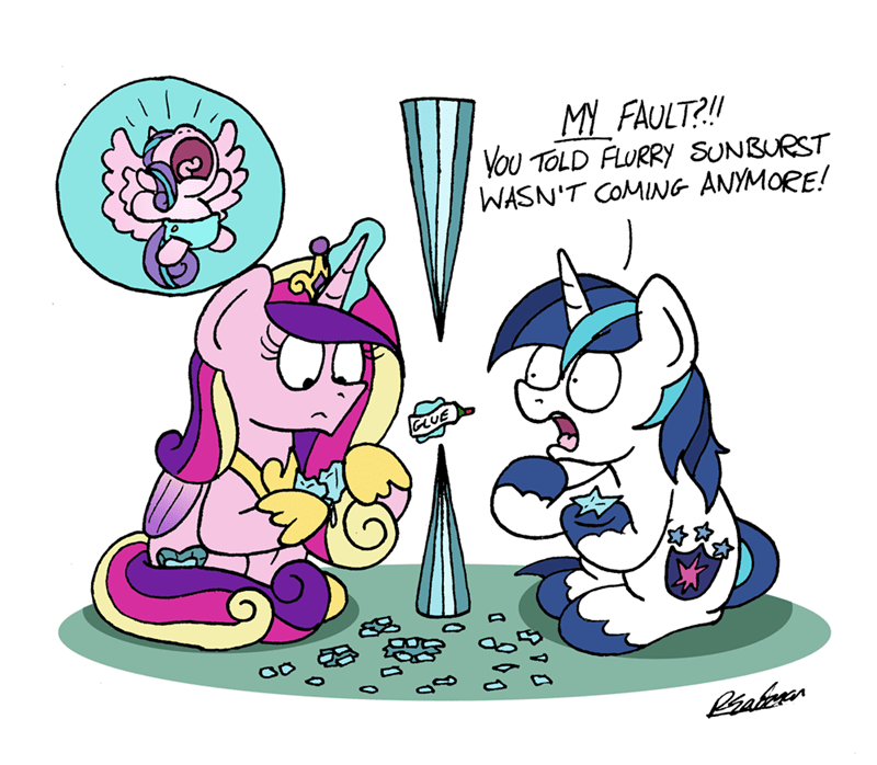 princess cadence a horse shoe-in bob the dalek flurry heart shining armor - 9362839040