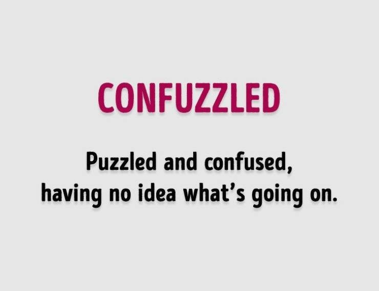 Text - CONFUZZLED Puzzled and confused, having no idea what's going on.
