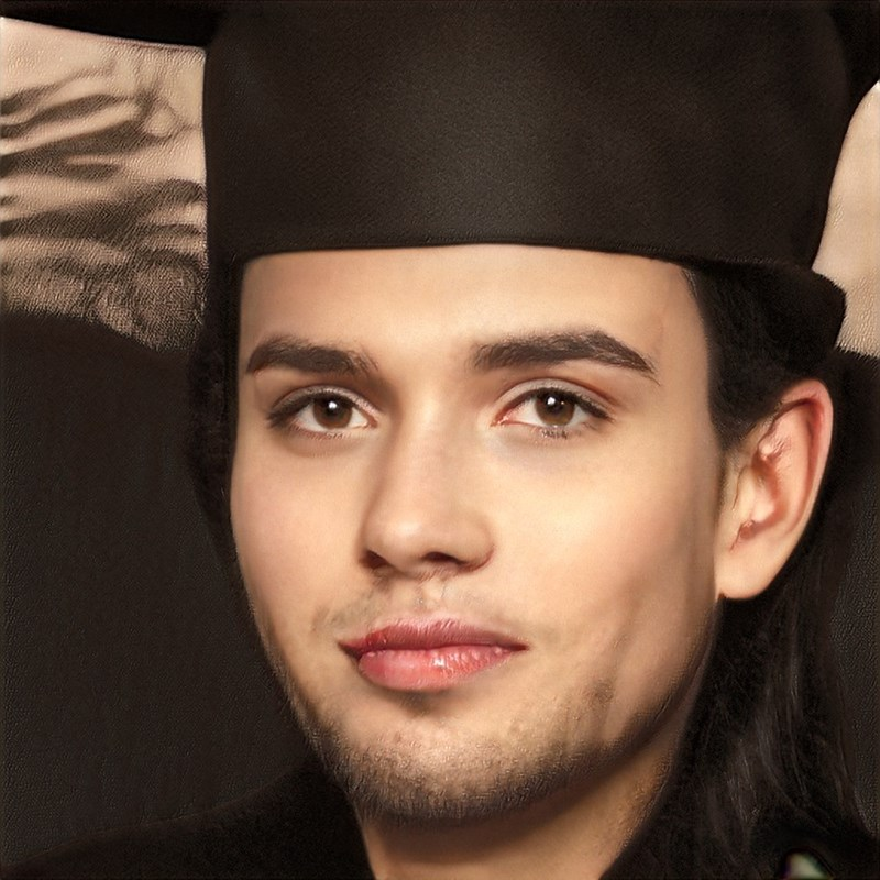 ai generated photo of man wearing black straight hat