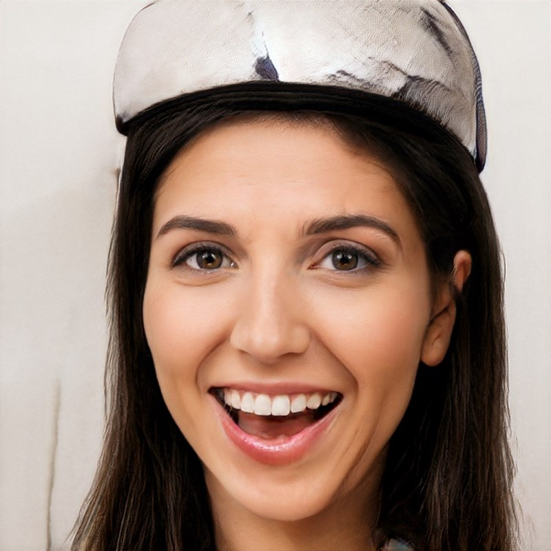 ai generated photo of woman wearing tin foil hat