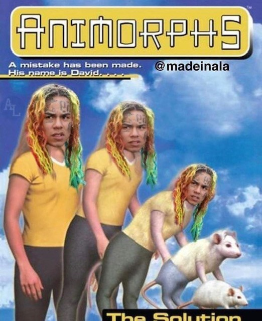 Album cover - ANIMORPHS A mistake has been made.@madeinala His name is Dayid AL The Solution