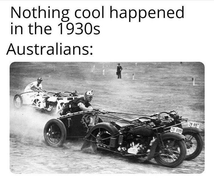 Land vehicle - Nothing cool happened in the 1930s Australians: