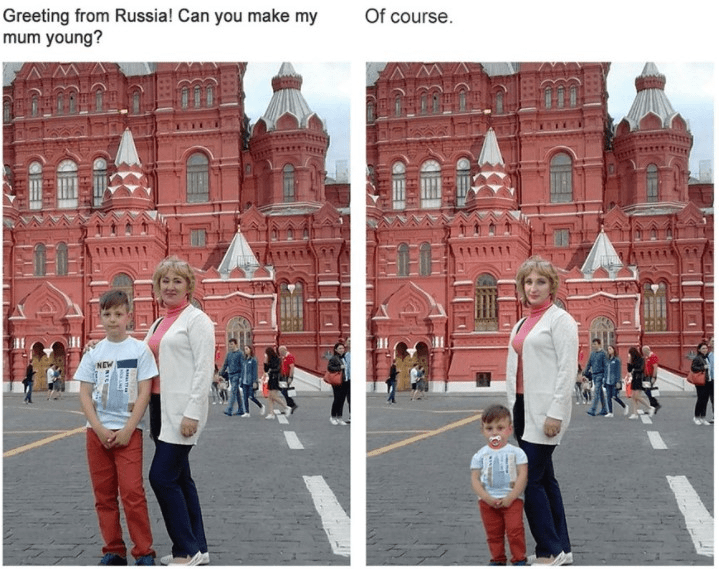 Landmark - Of course Greeting from Russia! Can you make my mum young? NEW