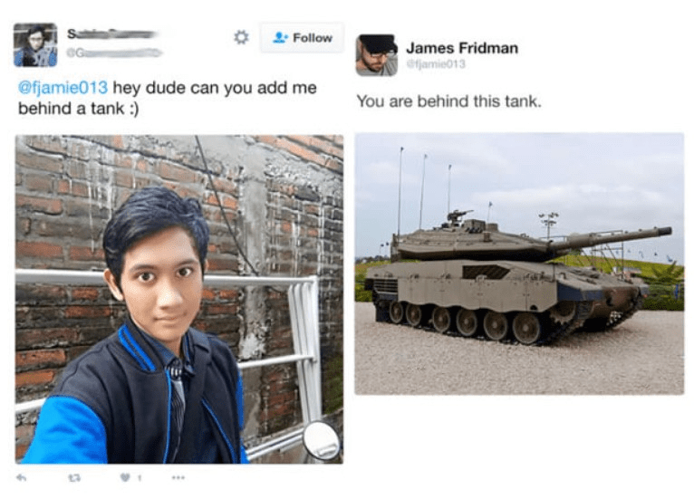 Tank - Sa Follow James Fridman efjamie013 @fjamie013 hey dude can you add me behind a tank: You are behind this tank