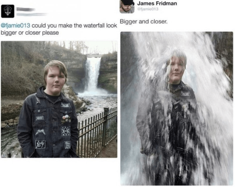 Adaptation - James Fridman @fjamie013 @fjamie013 could you make the waterfall look Bigger and closer. bigger or closer please
