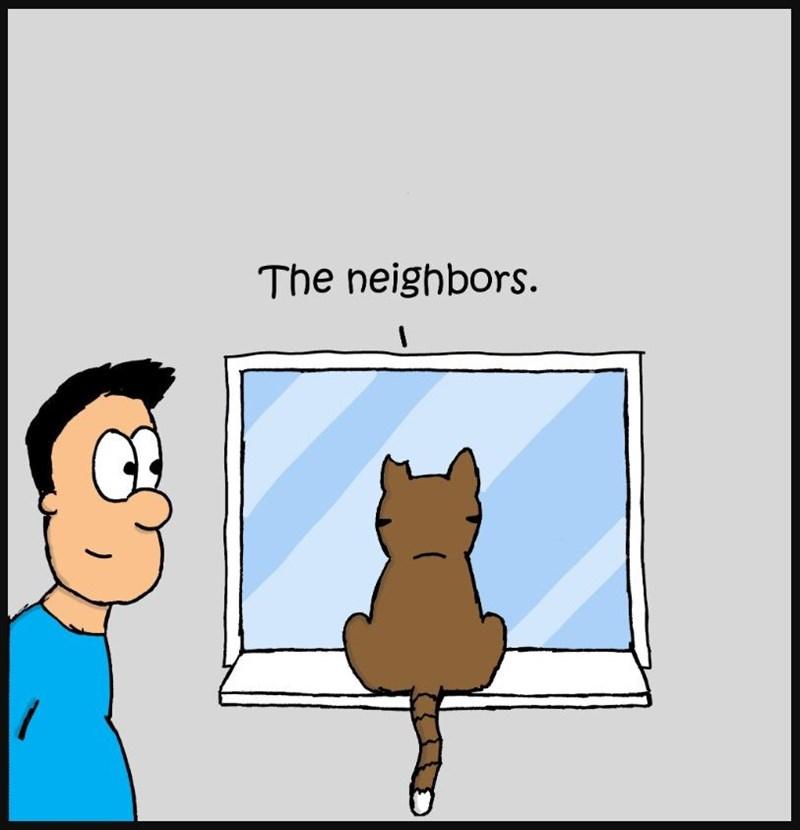 Cartoon - The neighbors.