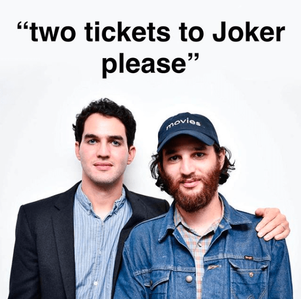 """Product - """"two tickets to Joker please"""" movies"""