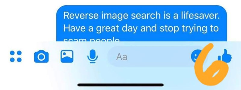 Text - Reverse image search is a lifesaver. Have a great day and stop trying to sam noonle Аa