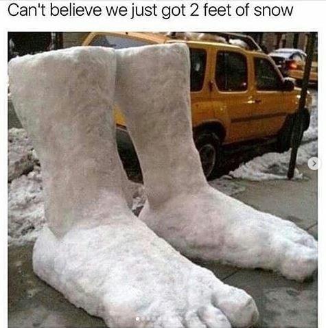 Footwear - Can't believe we just got 2 feet of snow
