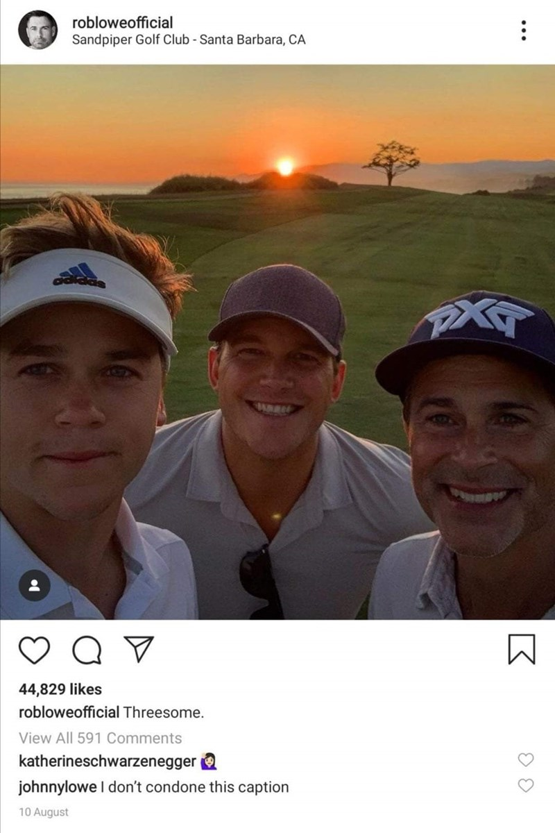 Sky - robloweofficial Sandpiper Golf Club - Santa Barbara, CA 44,829 likes robloweofficial Threesome. View All 591 Comments katherineschwarzenegger johnnylowe I don't condone this caption 10 August