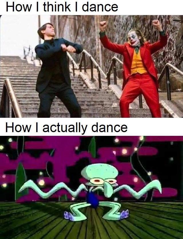 Cartoon - How I think I dance How I actually dance