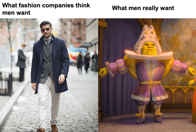 Yellow - What fashion companies think What men really want men want