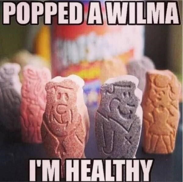 Font - POPPED A WILMA I'M HEALTHY 507