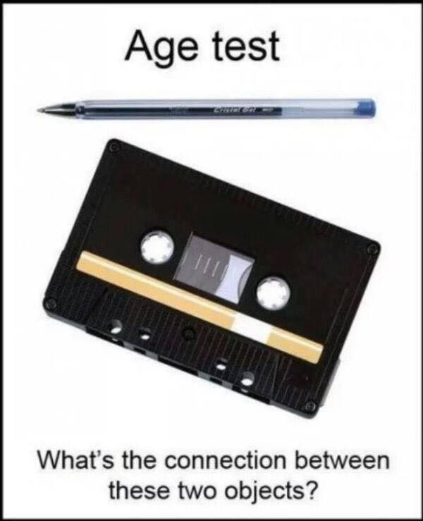 Compact cassette - Age test What's the connection between these two objects?