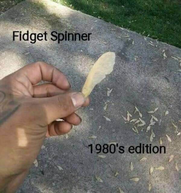 Hand - Fidget Spinner 1980's edition