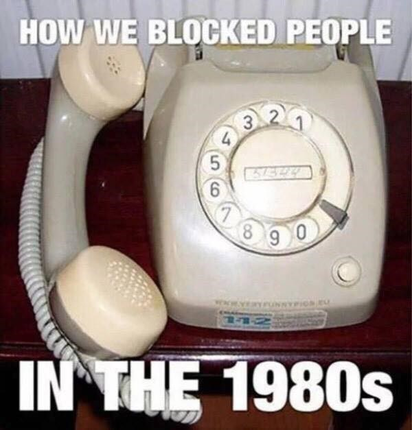 Corded phone - HOW WE BLOCKED PEOPLE 4 7 8 9 0 ac IN THE 1980s