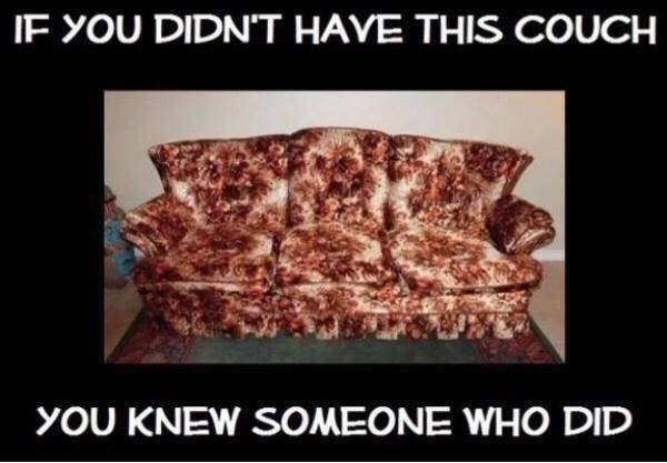 Furniture - IF YOU DIDNT HAVE THIS COUCH YOU KNEW SOMEONE WHO DID