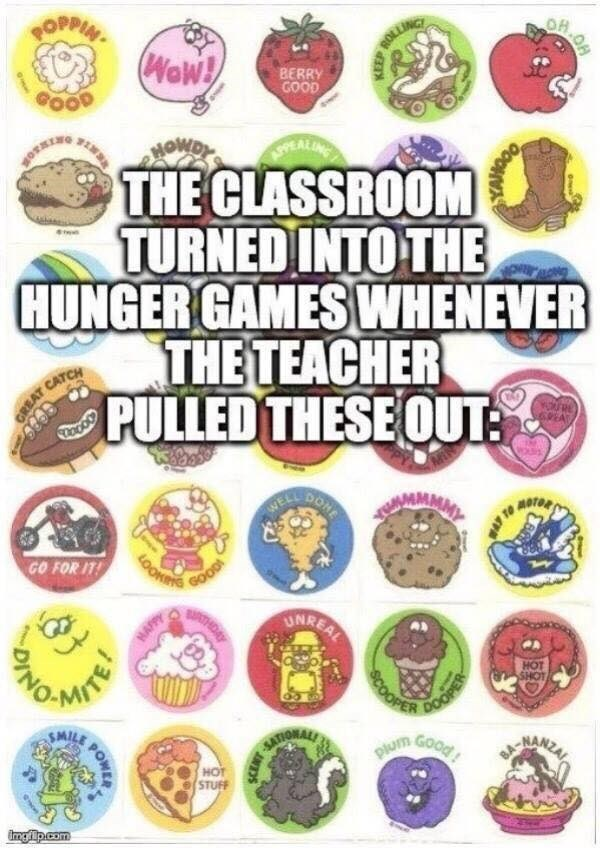 Font - OPPIN ROLLING Wew! BERRY GOOD APPEA THE CLASSROOM TURNED INTO THE HUNGER GAMESWHENEVER THE TEACHER PULLED THESE OUT: E 6PEA GREAT CATCH DONE WELL MOTOR LOONING GOOD BATHDAY GO FOR IT! UNREAL HOT SHOT COOPER DOOPER SMIL GOOD SATIONALS IRANDAL plum HOT STUFF imng lp.com KEEP POWER