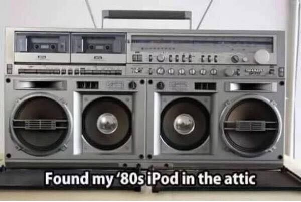 Boombox - Found my '80s iPod in the attic