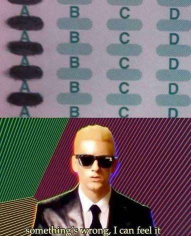 Green - В D D D D В Something's wrong, I can feel it B B B